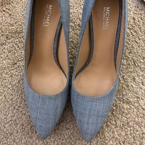 Michael Kors Shoes - Michael Kors Denim Heel/Brand New S:6.5 🔥with box